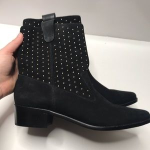 Rebecca Minkoff Shoes - Rebecca Minkoff Sydnie black suede stud boots 10
